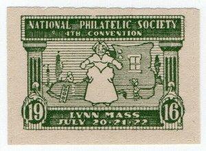 (I.B) US Cinderella : 4th National Philatelic Society Convention (Lynn 1916)