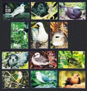 Pitcairn Tern Crake Booby Tropic Bird Noddy Petrel Shearwater Birds 12v