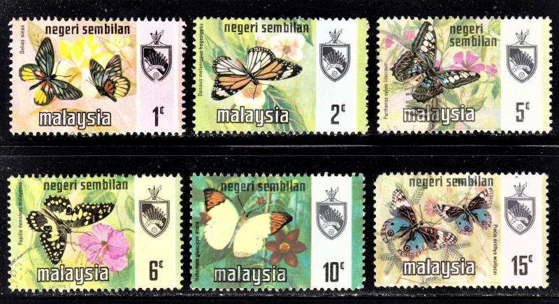 Malaysia Negri Sembilan Scott 85-90 F to VF mint & used.