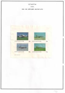 SCOTLAND - STAFFA - 1982 - Military Jets #3 - Imperf 4v Sheet - MLH