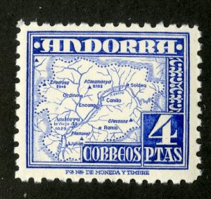 SPANISH ANDORRA 48 MH SCV $4.75 BIN $2.35 MAP