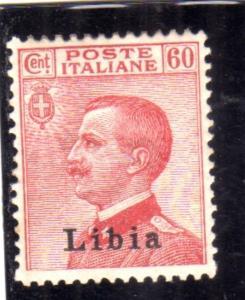 LIBIA 1917 - 1918 SOPRASTAMPATO D'ITALIA ITALY OVERPRINTED CENT. 60c MLH