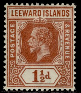 LEEWARD ISLANDS GV SG84, 1½d red-brown, LH MINT.