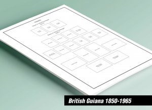 PRINTED BRITISH GUIANA  1850-1965 STAMP ALBUM PAGES (22 pages)