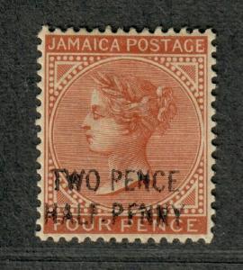 Jamaica Sc#27d M/H/VF, PFNNY Error, Cv. $100