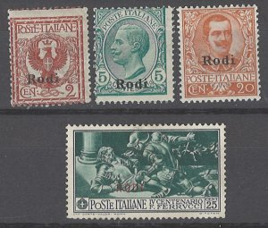 COLLECTION LOT # 2139 ITALY RHODES 4 STAMPS 1912+