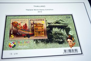 COLOR PRINTED THAILAND 2011-2015  STAMP ALBUM PAGES (97 illustrated pages)