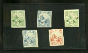 Liberia stamps Early 1860s Lot of 5 Color Proofs Very Rare