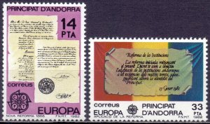 Andorra. 1982. 153-54. Antique Documents Europe. MNH.