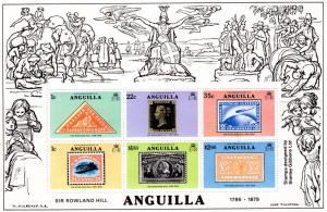 Anguilla 1979 Sc#354a Stamp on Stamp S/S (1) Perforated MNH VF