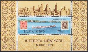 1971 Samoa 236/B3 PHILATELIC EXHIBITION INTERPEX 4,00 €