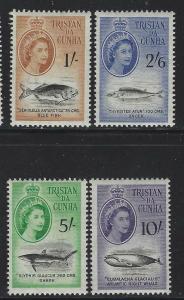 Tristan da Cunha 1960 Elizabeth & Fish set Sc# 28-41 NH
