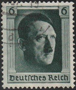 Stamp Germany Mi 646 Sc B102a 1937 3rd Reich Adolf Hitler Birthday Used