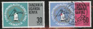 Kenya Ugand Tanganyika, KUT  Scott 164-165 mixed set