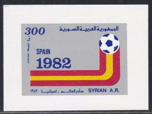 Syria # 966, World Cup Soccer Large Stamp, Light Hinged, 1/3 Cat