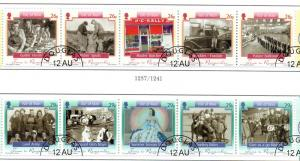 Isle of Man  Sc 1108-9 2005 Time to Remember stamp set used