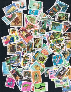 80 different Maldives MHR 1970s topicals (EBP0001)