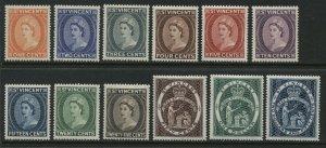 St. Vincent QEII 1955 complete set unmounted mint NH