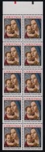 1990 Christmas Madonna Sc 2514b never folded pane plate no. 1 CV $13