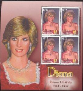 Maldives MNH S/S Lady Diana