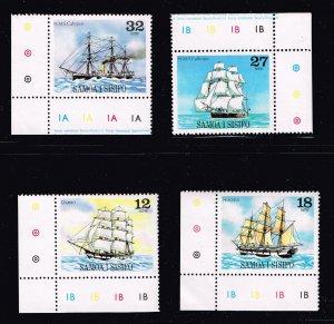 SAMOA STAMP 1981 Sailing Ships IMPRINT MNH/OG SET FRESH $5
