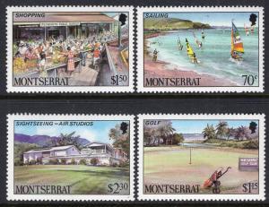 Montserrat MNH 639-42 Tourist Attractions 1986