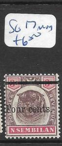 MALAYA   NEGRI SEMBILAN   (P1207B)  TIGER 4C/5C  SG 17   MOG