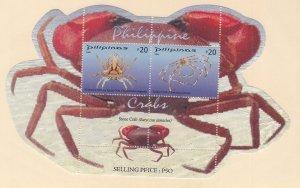 Philippines: Sc #3196, MNH, S/S, Crabs (S18904)