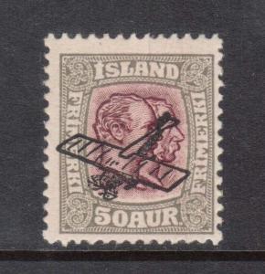 Iceland #C2 NH Mint