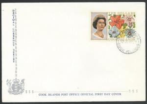 COOK IS 1968 $10 flowers definitive FDC....................................11584