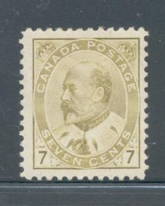 Canada Sc 92 1903 7 c olive bistre Edward VII stamp mint