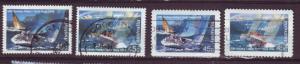 J12963 JLstamps 1994 australia used sets #1396a-b, 1397-97a perfs sailboats