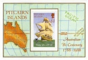 Pitcairn #297 MNH sheet – tall ship