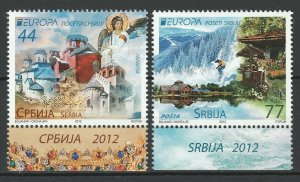 Serbia 2012 CEPT Europa 2 MNH stamps