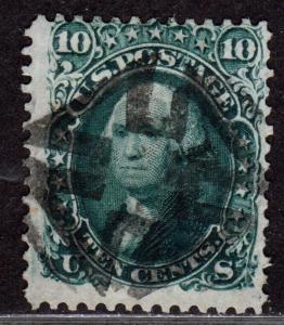 $ US SC#68 used, fine, maltese cross fancy cancel, CV. $60