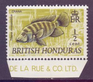 Br Honduras Scott 235 - SG277, 1969 Fish 1/2c Yellow-Olive MH*