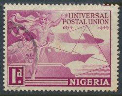 Nigeria  SG 64 SC# 75  Used UPU 1949 please see scan