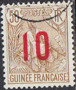 French Guinea #62 Used