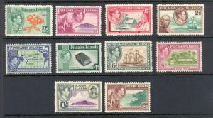 Pitcairn Islands 1 to 8 complete set - mh George VI