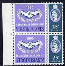 British Virgin islands 1965 International Co-operation Ye...