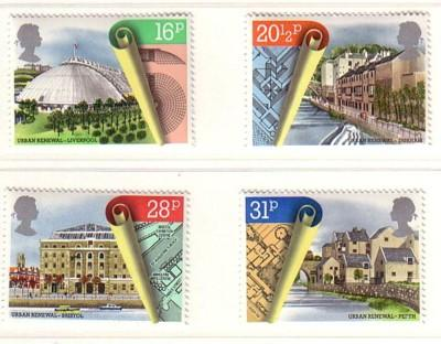 Great Britain Sc 1049-52 1984 Architects stamp set mint NH