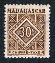 Madagascar J32 MLH Postage Due Numeral (BP1427)