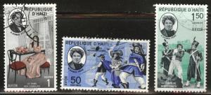 Haiti  Scott C177-179 Used CTO airmail set similar cx