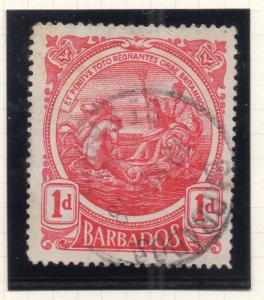 Barbados 1916-20 Early Issue Fine Used 1d. 296820