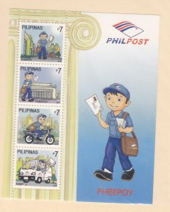 Philippines: Sc #3336-3336e, MNH, S/S, Mail Delivery (S18916)