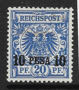 GERMAN EAST AFRICA SG5 1893 10p ON 20pf ULTRAMARINE MTD MINT