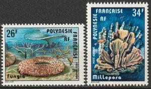 French Polynesia 1978 Sc C162-3 air post set MNH**