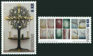Faroe 522-523,MNH. Altarpiece at Vestmanna Church,2009.