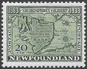 Newfoundland Scott Number 223 FVF HR