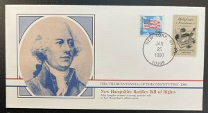US #2278,1099 On Cover - Bicentennial of Constitution 1787-1987 [BIC79]